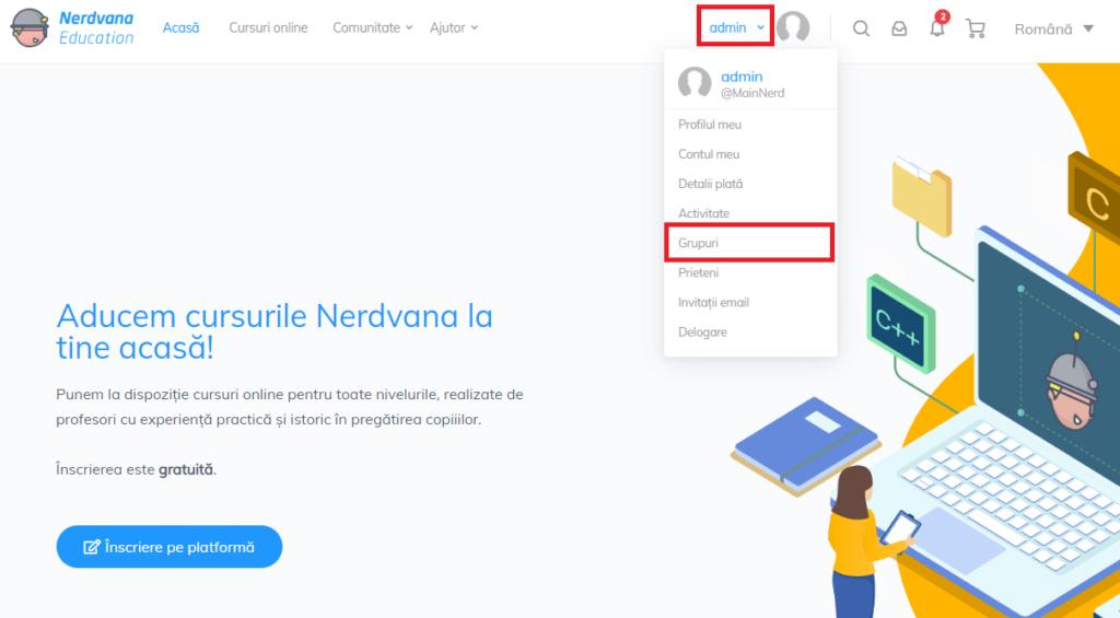Cursuri asistate online Nerdvana Education